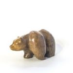 Bears soapstone carving grizzly bear